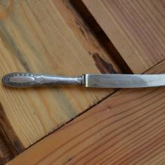 Cutit maner de argint foarte vechi / Cutit maner argint cu marcaje, Tacamuri