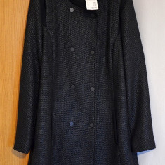 Palton Dama (nou cu eticheta), croiala frumoasa, Marime: 44, Culoare: Negru