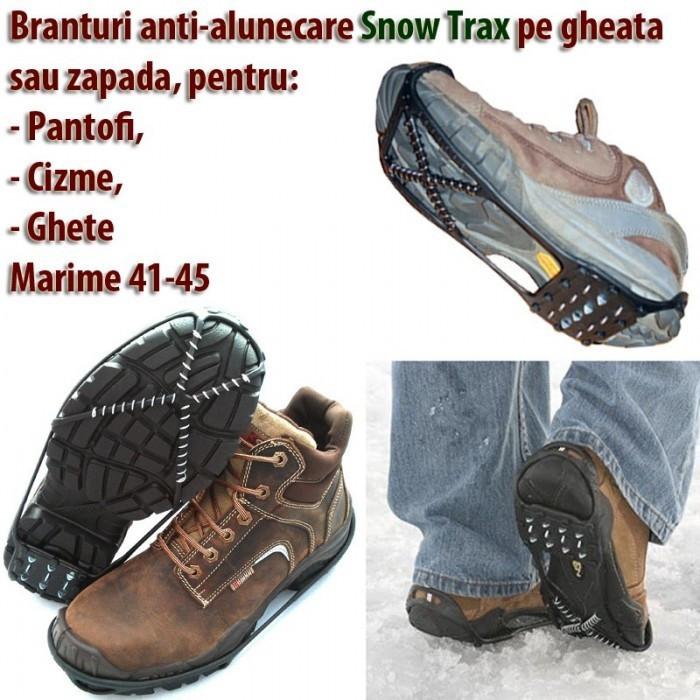 Branturi anti-alunecare SNOW TRAX  marime 41 - 45 pentru zapada si gheata