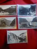 Set 5 Ilustrate - Fotografii- Zona Cazane- Portile de Fier , interbelice Ed. Hu, Necirculata, Fotografie