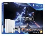 Consola Sony PlayStation 4 500 GB White + joc Star Wars Battlefront II
