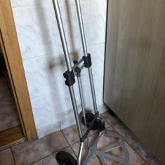 Carucior metalic, pliabil, cu doua roti, pentru transportat greutati mari