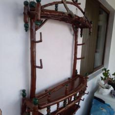 Masa lemn + etajera lemn