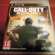 Joc Call of Duty Black Ops III, PS3, original, alte sute de jocuri! - Jocuri PS3 Activision, Shooting, 18+, Single player