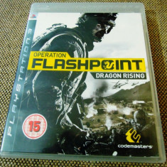 Operation Flashpoint Dragon Rising, PS3, original, alte sute de jocuri!, Shooting, 18+, Single player, Activision