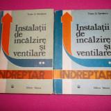 Traian D. Savulescu, Instalatii De Incalzire Si Ventilare, Indreptar 2 Volume - Carti Constructii