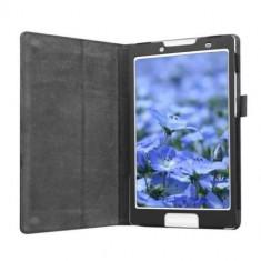 Husa Premium piele pentru tableta Lenovo IdeaTab 2 A8-50, 8 inch, Black - Husa Tableta