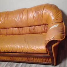 Canapea extensibila, de 3 locuri, de doua locuri, fotoliu , din piele