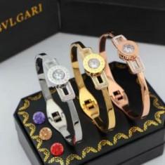 Bratara Bvlgari Crystal, 24Kgp- Cadoul de Craciun ! - Bratara placate cu aur Bvlgari, Femei