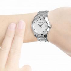 Ceas de dama Tissot T- Trend Couturier alb, Casual, Quartz, Inox