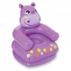 Fotoliu gonflabil hipopotam mov INTEX