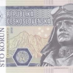 Bancnota Cehoslovacia 100 Korun 2018 - SPECIMEN ( hartie filigran ) - bancnota europa