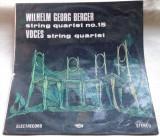 COPERTA / MAPA DISC RCM: WILHELM GEORG BERGER - STRING QUARTET 15 (ST-ECE 03046), Alte tipuri suport muzica