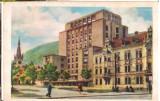 CPI (B9659 ) CARTE POSTALA - ORASUL STALIN - HOTEL CARPATI, RPR, Circulata, Fotografie
