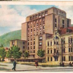 CPI (B9659 ) CARTE POSTALA - ORASUL STALIN - HOTEL CARPATI, RPR - Carte Postala Transilvania dupa 1918, Circulata, Fotografie