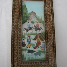 Raritate!!! Impresionanta pictura persana - Tablou autor neidentificat, Peisaje, Acrilic, Realism