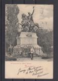 BUCURESTI  MONUMENTUL  LUI    MIHAI   BRAVUL   CLASICA  CIRCULATA 1900