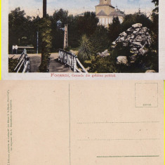 Focsani ( Vrancea ) - Cascada din Gradina publica - Carte Postala Moldova 1904-1918, Necirculata, Printata