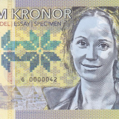 Bancnota Suedia 5 Kronor 2017 - SPECIMEN ( polimer ) - bancnota europa