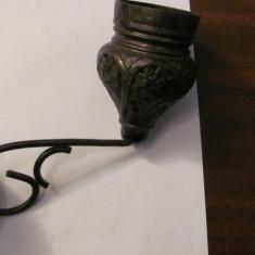 PVM - Candela veche alama argintata
