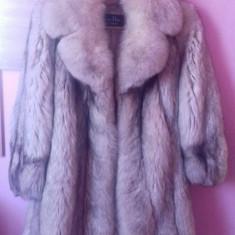 Haina de vulpe polara argintie Christian Dior - haina de blana
