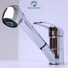 Baterie Scafa Coafor cu Furtun Dus Extractibil Chiuveta