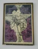 Gravura color/ tema tehnica, industriala, dimensiuni mari, Portrete, Guasa, Altul