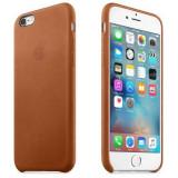 Husa capac protectie Apple iPhone 6S Leather Case Premium Saddle Brown - Husa Telefon Apple, iPhone 6/6S