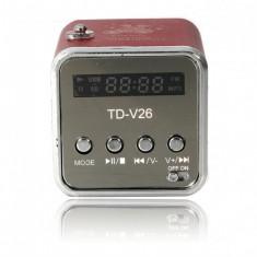 Mini Boxa Portabila Cu MP3 Player TD-V26