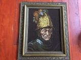 Tablou cu rama din lemn - Goblen reproducere dupa pictura de Rembrandt !