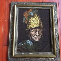 Tablou cu rama din lemn - Goblen reproducere dupa pictura de Rembrandt ! - Tapiterie Goblen