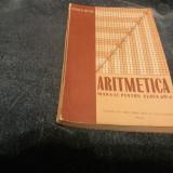 MANUAL ARITMETICA CLASA A VI A 1959 - Carte Matematica