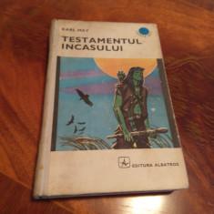Testamentul Incasului - Karl May - Editura Albatros - 1971 - Carte de aventura