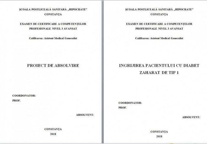 LUCRARE DE LICENTA AMG – INGRIJIREA PACIENTULUI CU DIABET ZAHARAT DE TIP 1