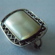 Brosa argint cu sidef vintage