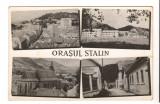 CPI (B9661 ) CARTE POSTALA - ORASUL STALIN - MOZAIC, RPR, Circulata, Fotografie