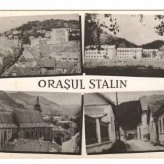 CPI (B9661 ) CARTE POSTALA - ORASUL STALIN - MOZAIC, RPR