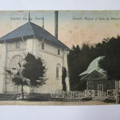 Carte postala Targu Neamt circulata 1921, Printata