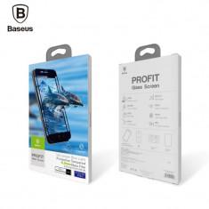 Folie sticla 3D tempered glass Baseus Silk Screen Apple iPhone 8 Plus neagra - Folie de protectie Baseus, iPhone 6 Plus