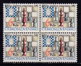 Cehoslovacia 1985  sport  SAH  MI 2811 bloc de 4   MNH  w47, Nestampilat