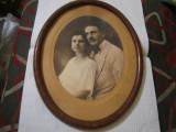 Rama veche ovala din lemn, Oval