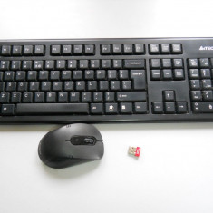 Kit tastatura + mouse A4TECH Wireless 7100N., Fara fir