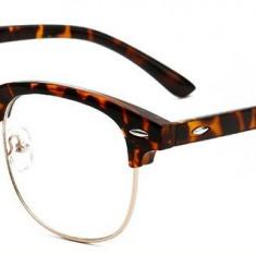 Ochelari - Rame cu lentile transparente Retro Maro Leopard II