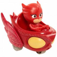 Jucarie Mini vehicul planor Bufnita cu figurina Bufnita Eroi in pijama