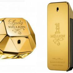 Set Parfum Original Paco Rabanne 1 Million + Lady Million Men + CADOU