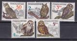 Cehoslovacia 1986  fauna  pasari  MI 2875-2879   MNH  w47, Nestampilat