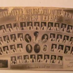 PVM - Fotografie foto Absolventele Gimnaziului Fete Principesa Ileana Turda 1940