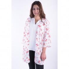 Kimono Bumbac Vila Rosely Print - Pulover dama Vila, Marime: M, Culoare: Alb