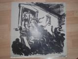 "LITOGRAFIE MARCEL CHIRNOAGA - ""RASCOALA DE LA 1907"", Abstract, Cerneala"
