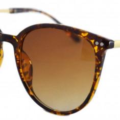 Ochelari de soare Rotunzi S Animal Print - Maro